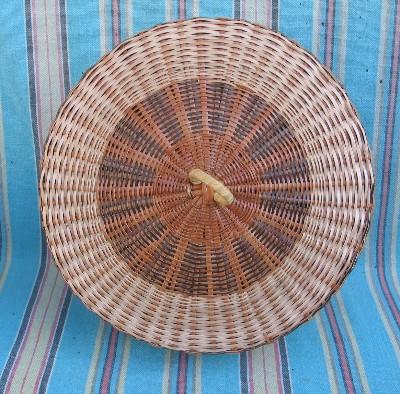 Carib Hand Woven Basket Lid Dominica African Fair Trade