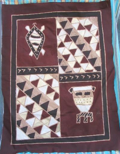 hand painted african batik zimbabwe this batik is the creation of ...